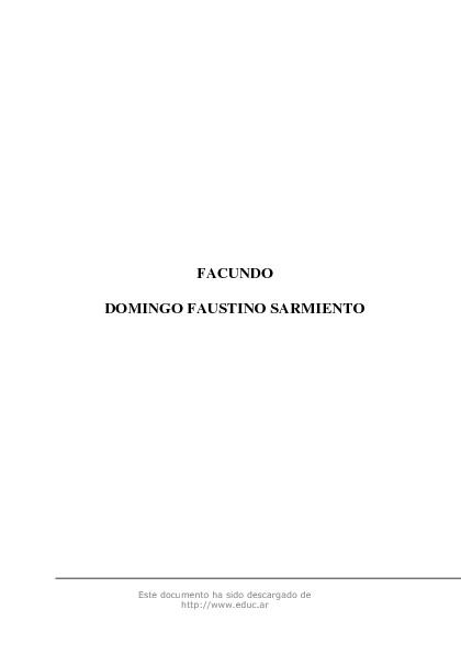 Facundo de Domingo Faustino Sarmiento