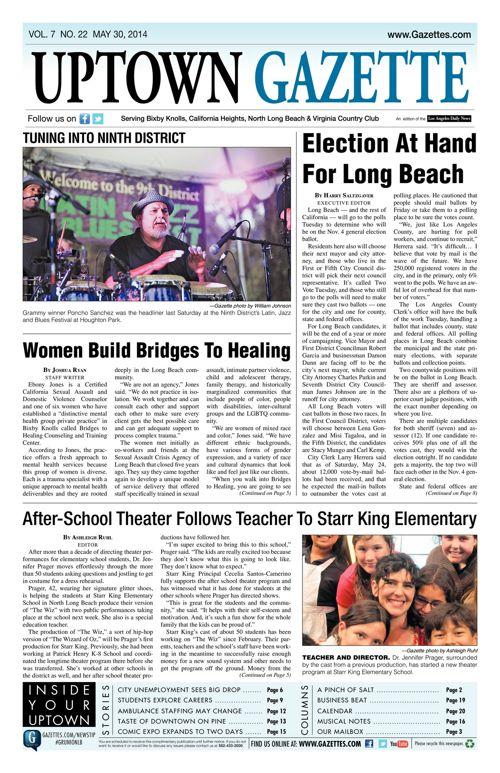 Uptown Gazette     May 30, 2014