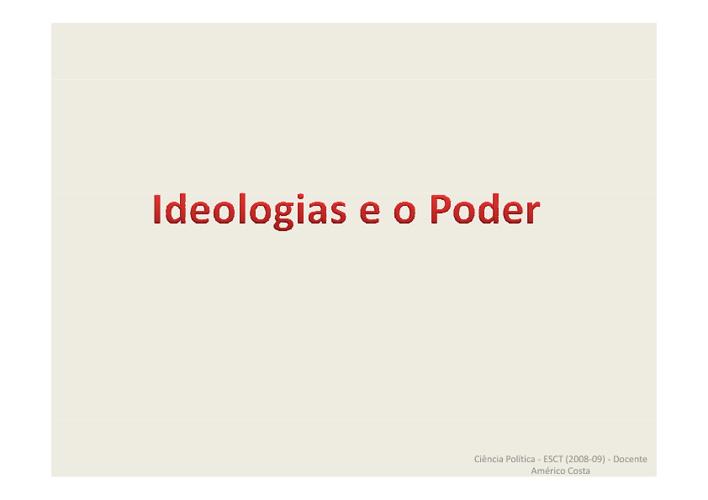 AS IDEOLOGIAS