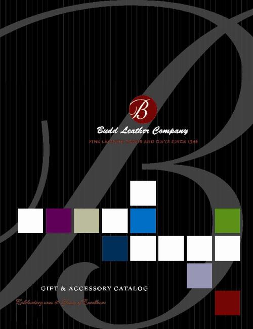 Budd Leather 2012 Catalog