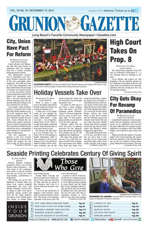 Grunion Gazette | December 13, 2012
