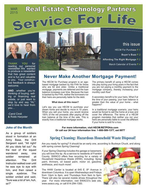 RETP March Newsletter