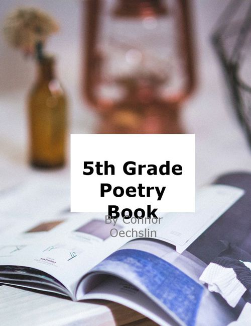 5th Grade Poetry Book