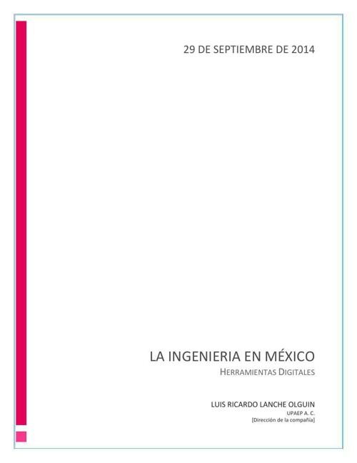 Antecedentes de Las ingenierías en México