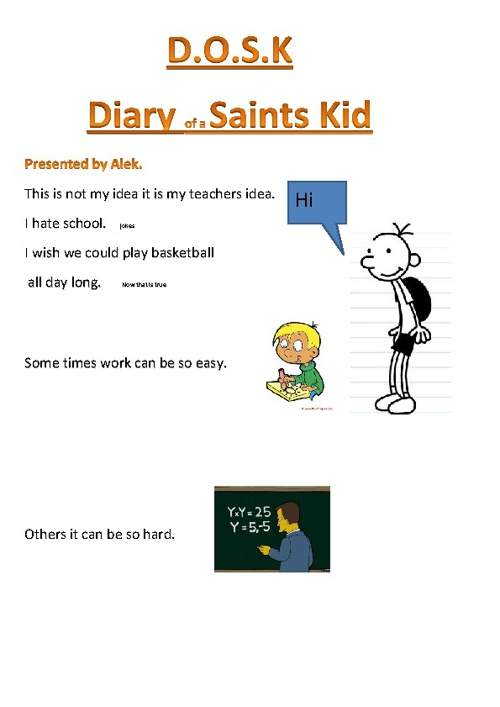 Diary of a Saint Kid by Alek