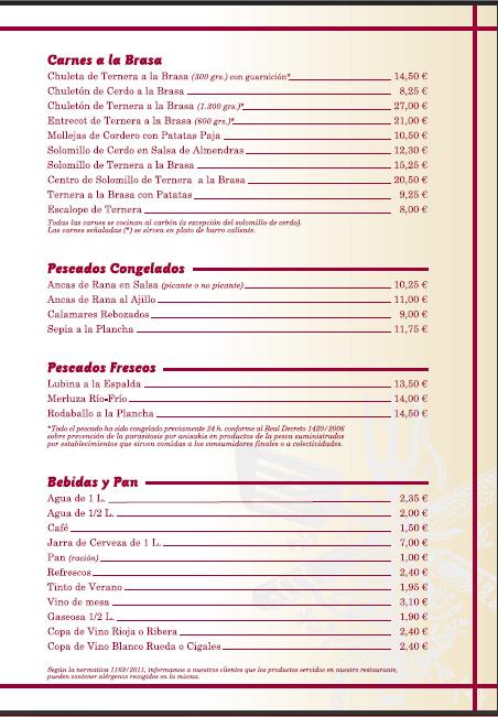 RIOFRÍO CARTA COMEDOR 2015