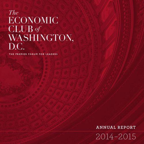 Economic Club Annual Report 2014-2015