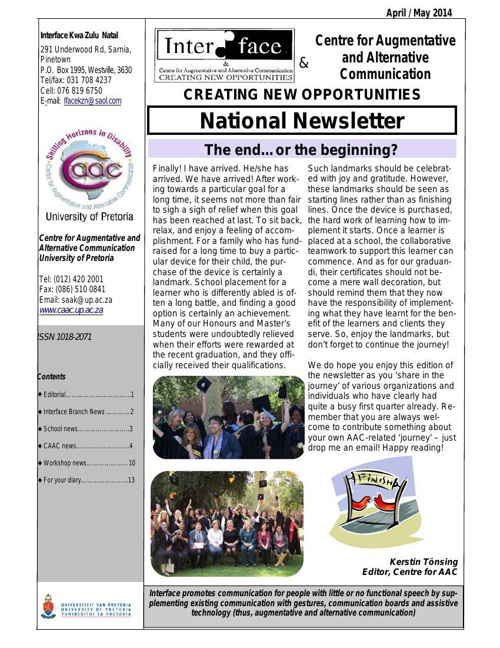 Interface-CAAC April-May 2014 Newsletter