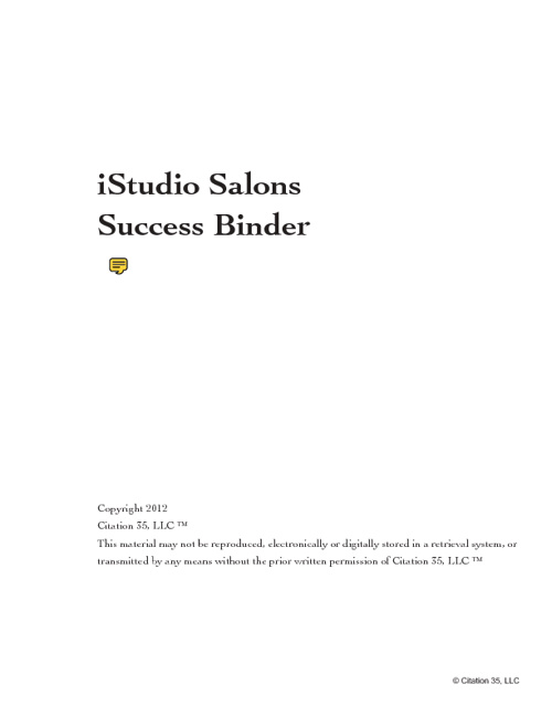iStudios Success Binder | Maitland