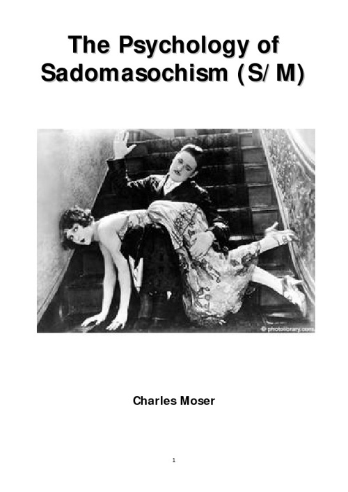 The Psychology of Sadomasochism (S&M)