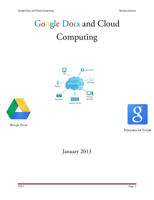 Quimestre Exam Google Docs and Cloud Computing