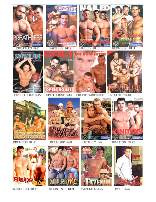 VIDEO CLUB GAY  CATALOGO 2012