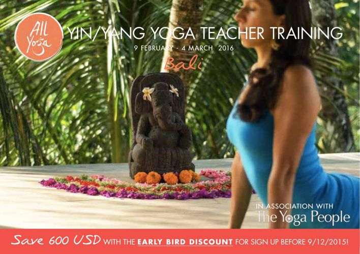 200 Hours Yin Yang Teacher Training - Bali, February 2016