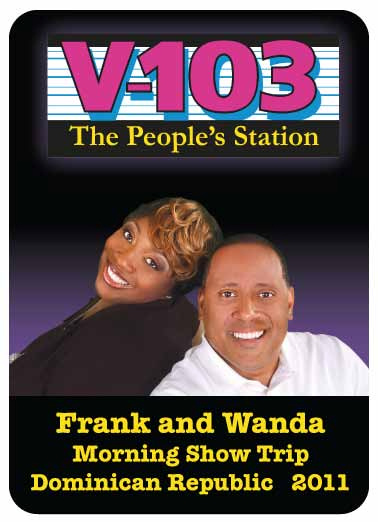 V103 Frank and Wanda Morning Show Playing Cards Flip Book