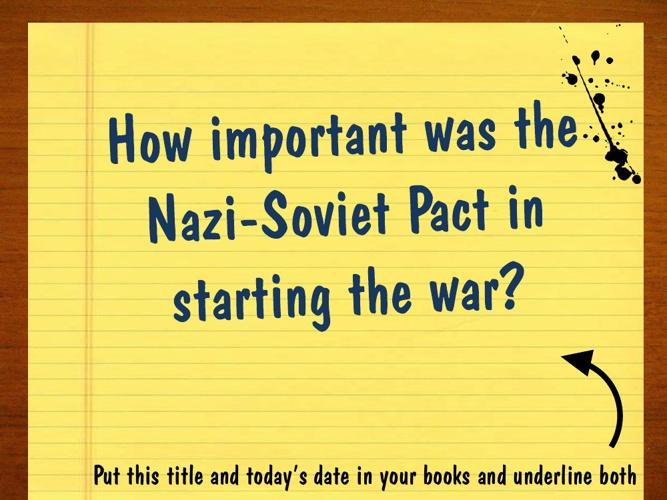 7. Nazi-Soviet Pact