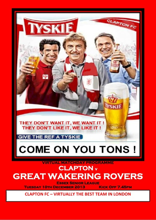 Clapton FC v Great Wakering Rovers FC