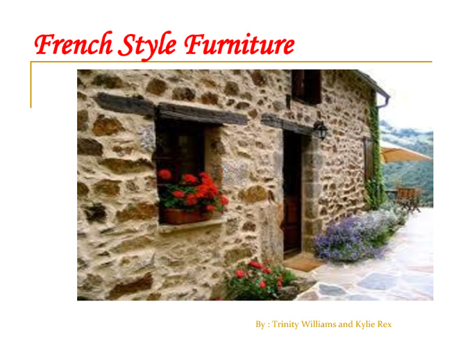 French Furniture Styles