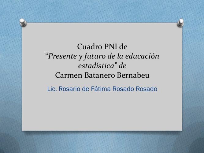 Presente y futuro en la educación estadística