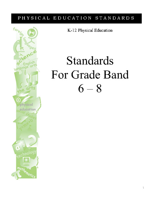 Physical Education Standards for 6th - 8th Grades