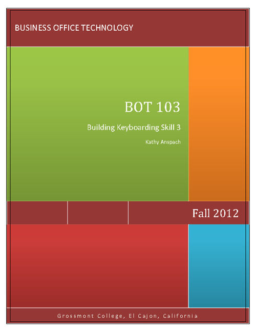 BOT 103C Fall 2012 Syllabus