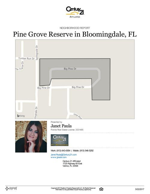Neighborhood Report for Pine Grove Reserve