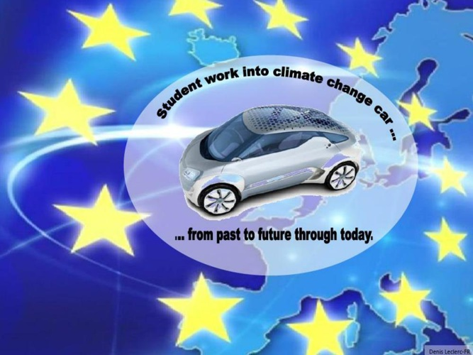 Student work into climate change car ... from the past through