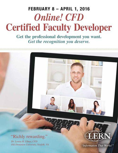 Online Certified Faculty Developer