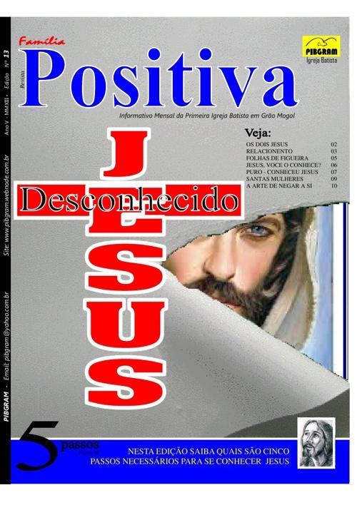 REVISTA FAMILIA POSITIVA FEVEREIRO 2013