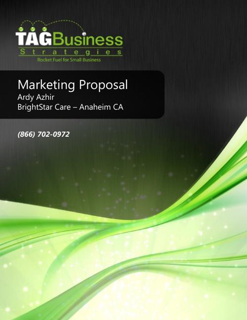 Marketing Proposal Brightstar Care Anaheim CA