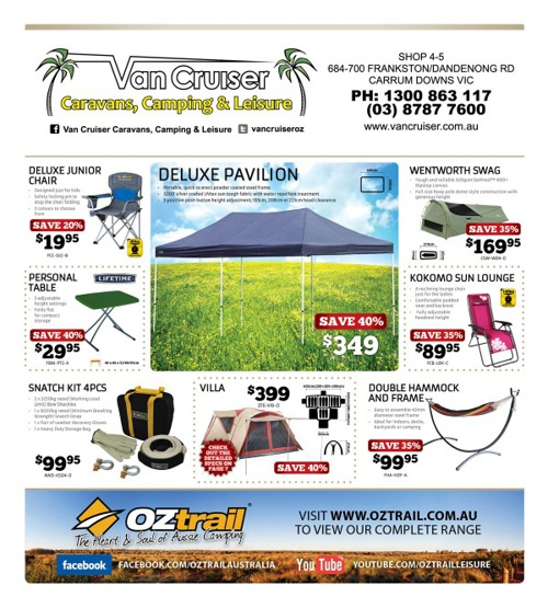 Oztrail September Catalogue 2013