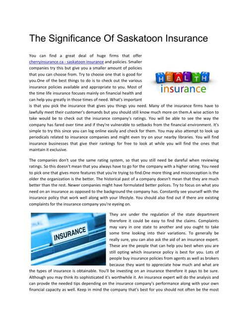 The_Significance_Of_Saskatoon_Insurance