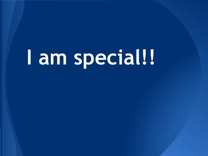 I am speaicl