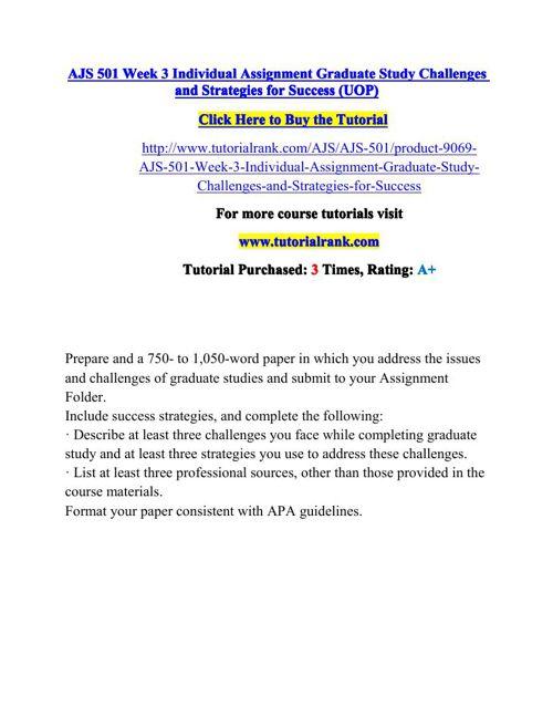 AJS 501 Potential Instructors / tutorialrank.com