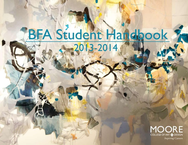 BFA Student Handbook 2013-14