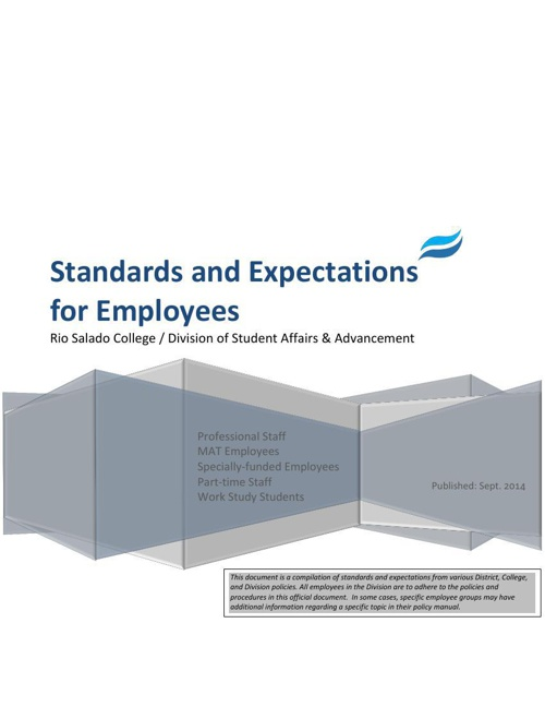 SAA Standards and Expectations 2014 FINAL DOC New Format