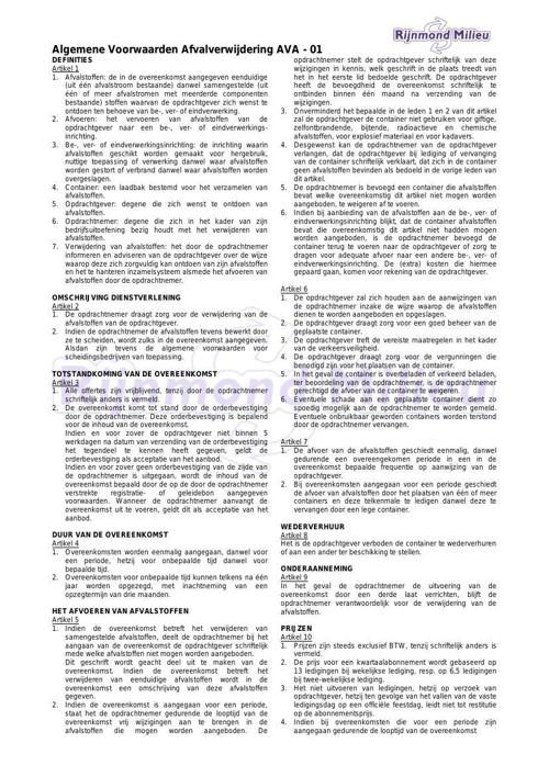 Algemene voorwaarden Nieuw 2014
