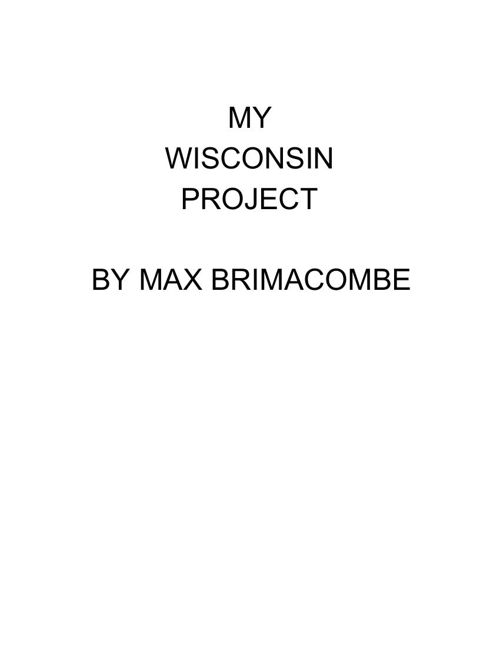 Max B MyWisconsinProject