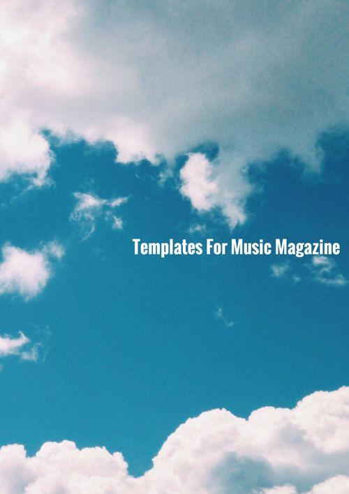 Music Magazine Template
