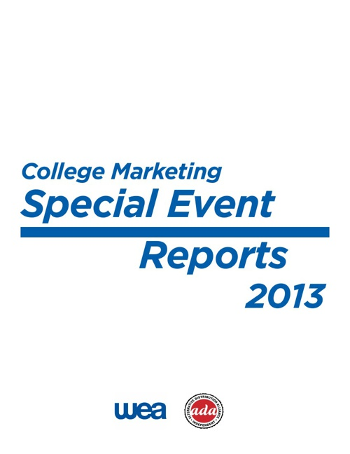 College Marketing Special Event Wrap-ups 2013