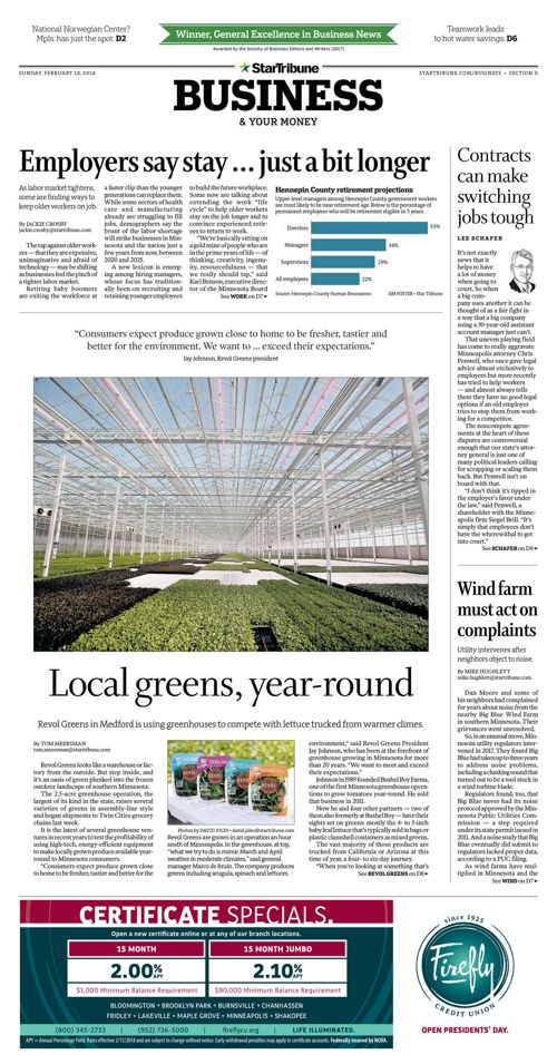 Star Tribune Business - February 18, 2018