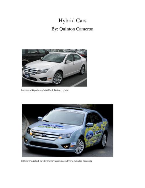 Hybrid Cars - Quinton Cameron