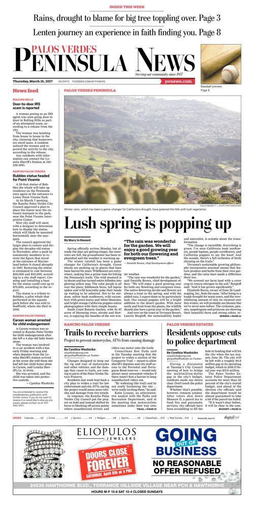 Peninsula News   March 16, 2017