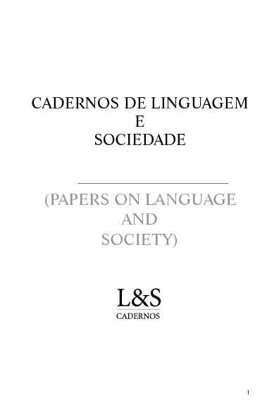 CLS N. 13 (1) 2012
