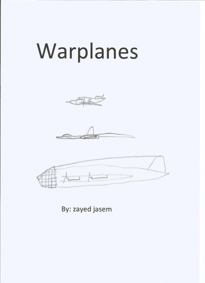warplanes by zayed -- coloring book