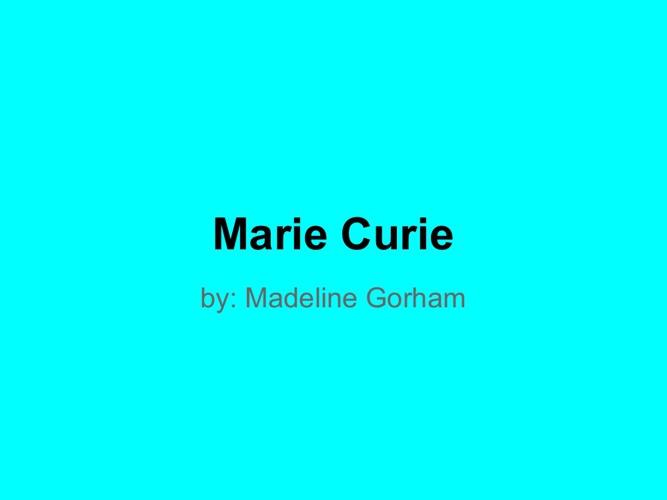 p6 Gorham Curie