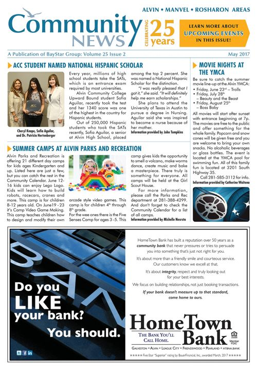 Alvin-Manvel-Rosharon Community News Volume 25 Issue 2