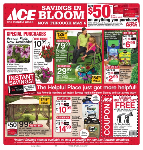 Savings in Bloom now through May 6th!