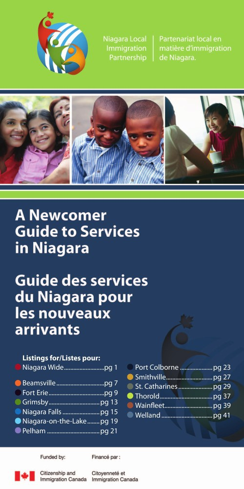 Newcomer Guide to Services in Niagara