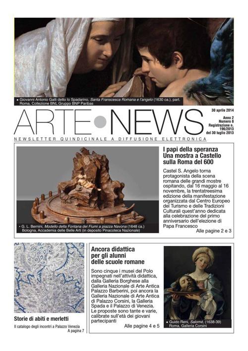 """""""Arte News"""" - 30 aprile 2014"""