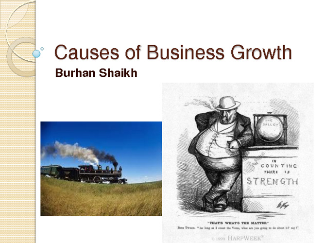 Causes of Business Growth